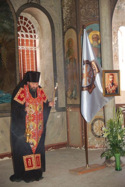 Начальник Русской Духовной Миссии в Иерусалиме - архимандрит  Исидор. © Иерусалимское отделение ИППО