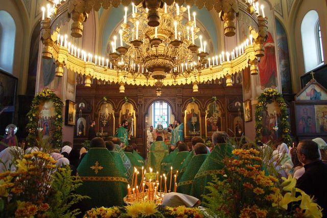 Во время богослужения. © Православный паломнический центр «Россия в красках» в Иерусалиме