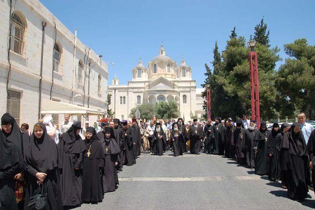 Крестный ход в Русскую Духовную Миссию. © Православный паломнический центр «Россия в красках» в Иерусалиме