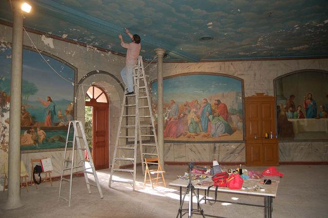 Росписи живописи потолка работа