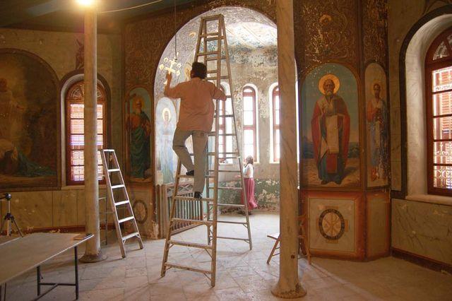 Измерения показаний в южной башне. © Иерусалимское отделение ИППО