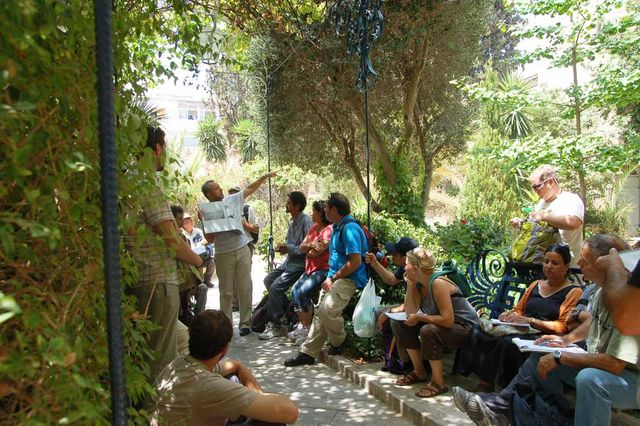 Во дворе Сергиевского подворья ИППО. © Иерусалимское отделение ИППО