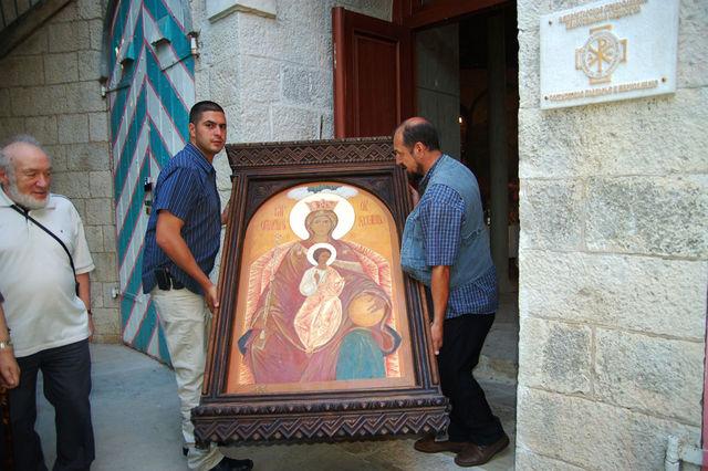 Державная икона Божией Матери на Сергиевском подворье ИППО.  © Иерусалимское отделение ИППО