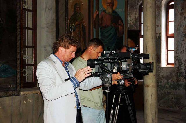 Российские СМИ на Сергиевском подворье в Иерусалиме. © Иерусалимское отделение ИППО