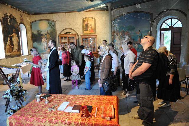 Молебен в народной трапезной Сергиевского подворья ИППО. © Иерусалимское отделение ИППО