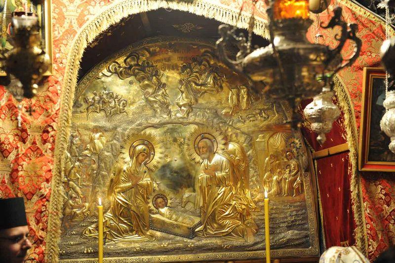 Icona di Natale sopra il luogo della Natività a Betlemme. dans immagini sacre 3