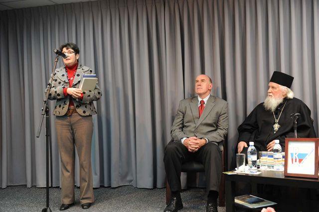 Выступление Е.Л. Румановской. © Иерусалимское отделение ИППО