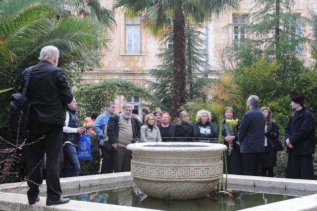 Члены делегации ГАСК на Сергиевском подворье ИППО в Иерусалиме. © Иерусалимское отделение ИППО