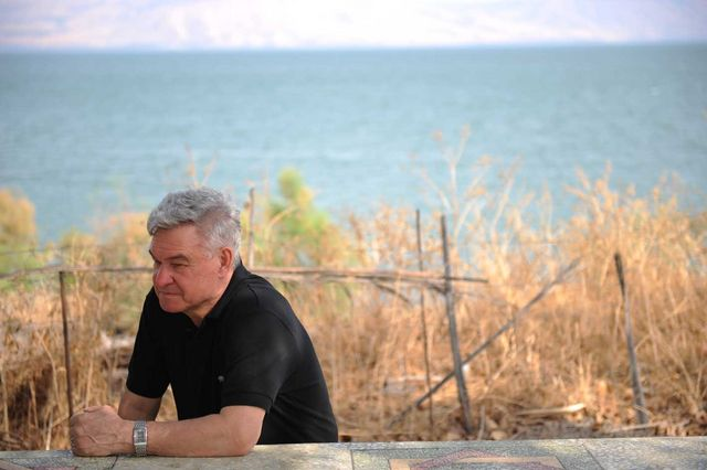 Олег Алексеевич Колобов на Галилейском море