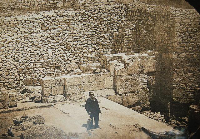 Конрад Шик на русских раскопках в Иерусалиме. 1883 год. © Иерусалимское отделение ИППО