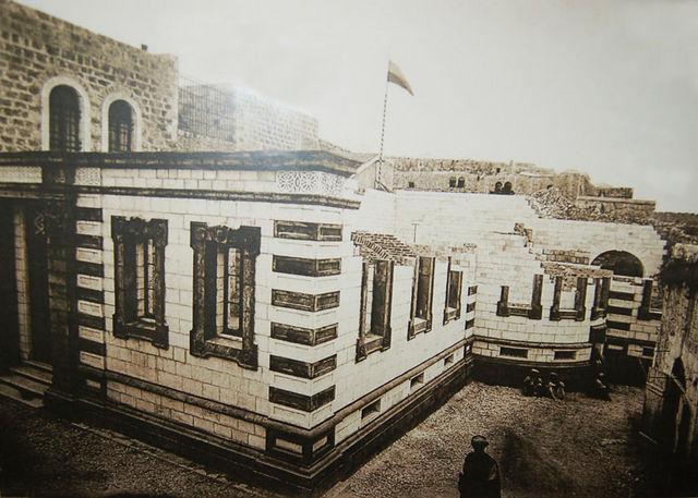 Строительство здания Александровского подворья. © Иерусалимское отделение ИППО