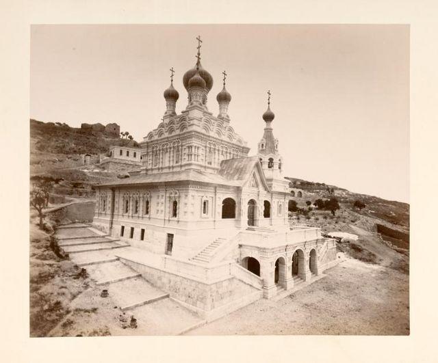 Русский храм св. Марии Магдалины в Гефсимании в Иерусалиме, построенный Православным Палестинским Обществом в 1885-1888 гг.