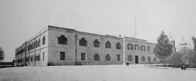Здание Русской Духовной Миссии в Иерусалиме © Архив Иерусалимского отделения ИППО. Фото конца XIX века
