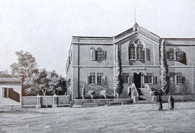 Здание больницы Императорского Православного Палестинского Общества в Иерусалиме