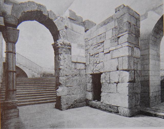 Александровское подворье ИППО в Иерусалиме. Остатки арки базилики св. Константина © Иерусалимское отделение ИППО