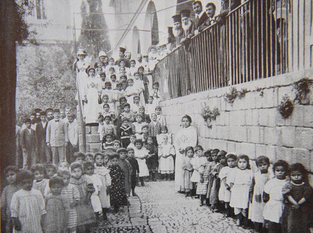 Женская школа Императорского Православного Палестинского Общества и детский сад при ней в Сирии в Дамаске © Иерусалимское отделение ИППО