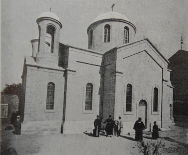 Церковь св. Георгия, построеная Императорским Православным Палестинским Обществом в Кане Галилейской. © Иерусалимское отделение ИППО