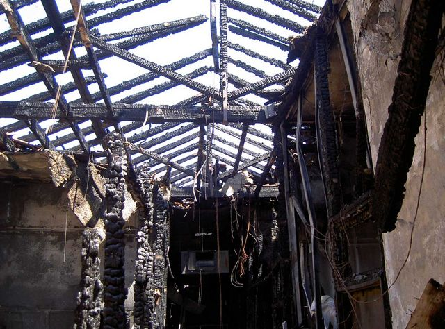 Последствия пожара 20 января 2002 года © Фото Ицхак Швейки