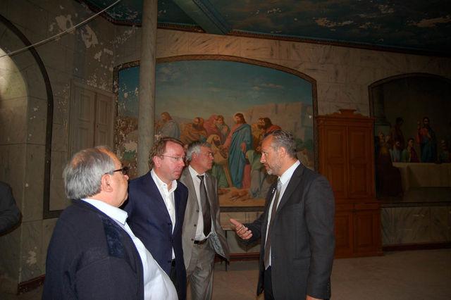 21 мая 2009 г. официальная делегация во главе с Управделами Президента России В.И. Кожиным посетила Сергиевское подворье ИППО в Иерусалиме. © Иерусалимское отделение ИППО