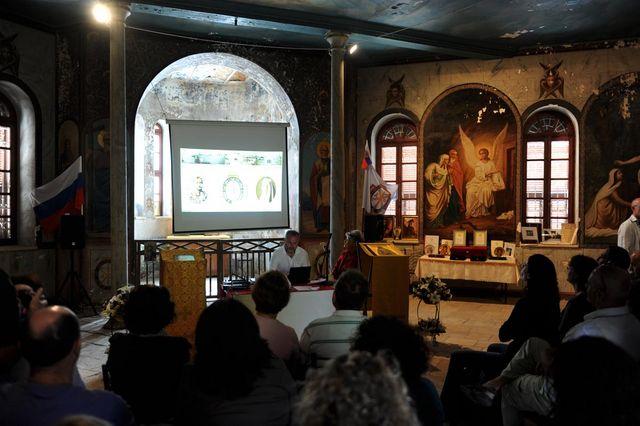 8 октября 2010 г. Сергиевские чтения для группы израильтян в народной трапезной © Иерусалимское отделение ИППО