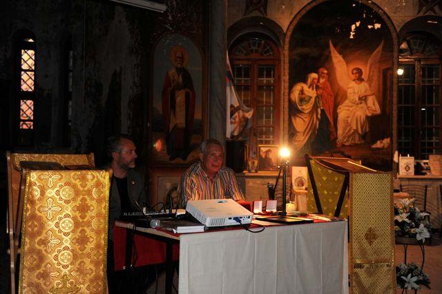 В президиуме собрания - Ю.А. Грачёв и П.В. Платонов. © Иерусалимское отделение ИППО