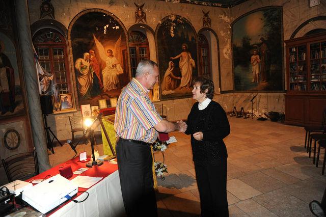 Награждение медалью имени В.Н. Хитрово - Татьяны Евгеньевны Тыжненко © Иерусалимское отделение ИППО