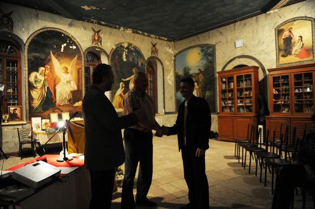 Награждение медалью имени В.Н. Хитрово - Александра Валерьевича Тимофеева © Иерусалимское отделение ИППО