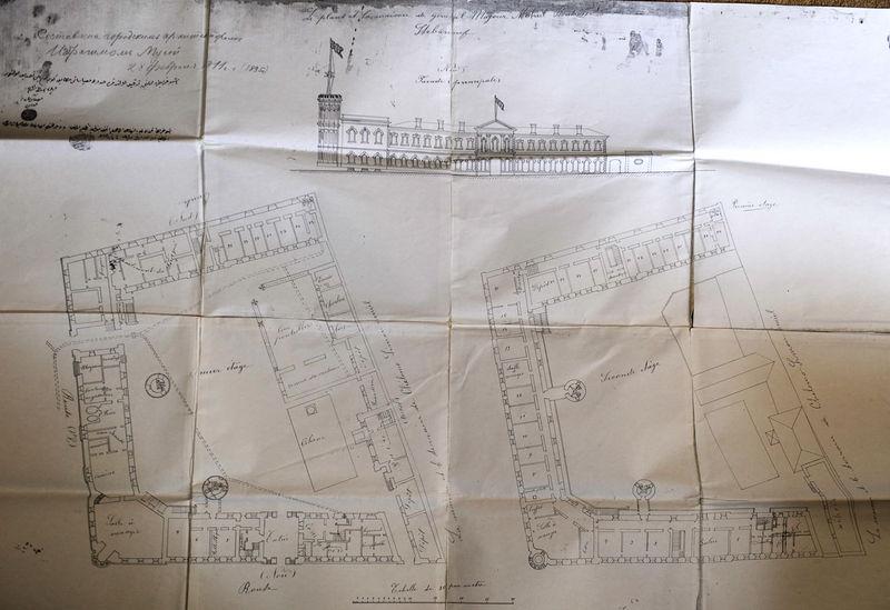 Архитектурный план городского архитектора Ибрагима Мусы 28 февраля 1895 г. Общий вид © Иерусалимское отделение ИППО