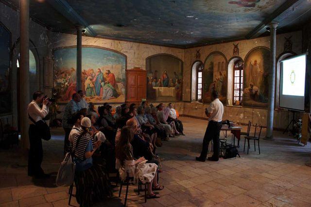 Сергиевские чтения в народной трапезной Сергиевского подворья в Иерусалиме.Фото © Иерусалимское отделение ИППО. 24 апреля 2011 года