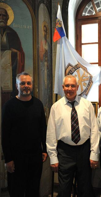 Справо налево: заместитель председателя ИППО Ю.А. Грачёв и председатель Иерусалимского отделения ИППО П.В. Платонов