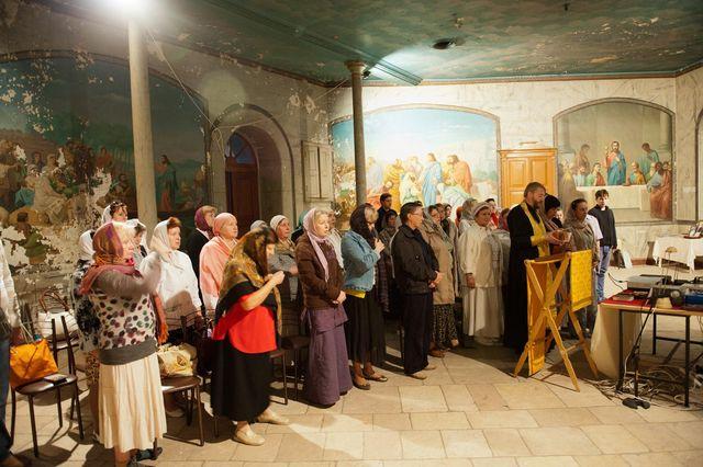 Молебен Всем Святым в народной трапезной © Иерусалимское отделение ИППО