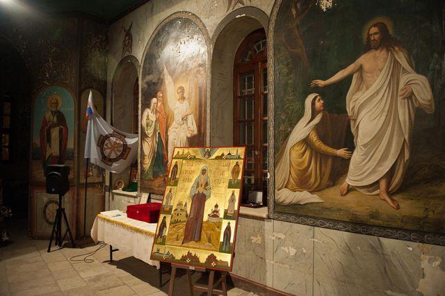 Икона «Святая преподобномученица Елисавета Феодоровна и благословенная Калужская земля» в Сергиевском подворье