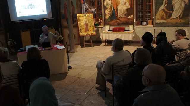 Сергиевские чтения в народной трапезной Сергиевского подворья в Иерусалиме