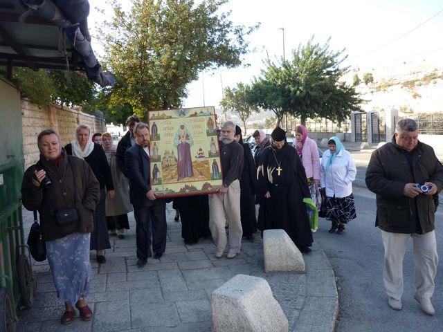 Крестный ход в Гефсимании в Иерусалиме