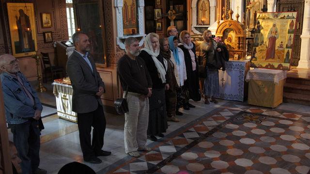 Делегация Калужского и Иерусалимского отделений ИППО в храме св. Марии Магдалины