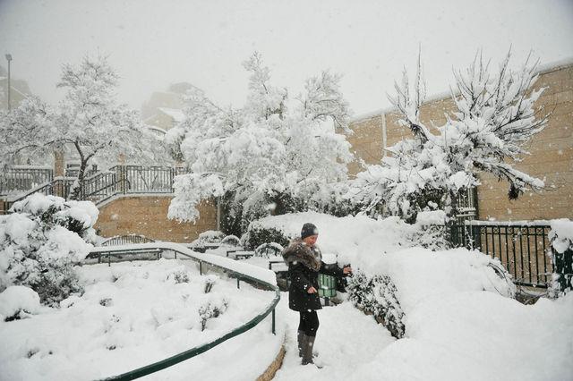 Снега достаточно ©  Православный паломнический центр «Россия в красках» в Иерусалиме