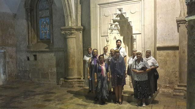 Православные паломники из Санкт-Петербурга в Сионской горнице