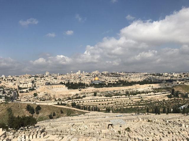 """Панорама на Святой град Иерусалим. 15 апреля 2017 года  © Православный паломнический центр """"Россия в красках"""" в Иерусалиме"""