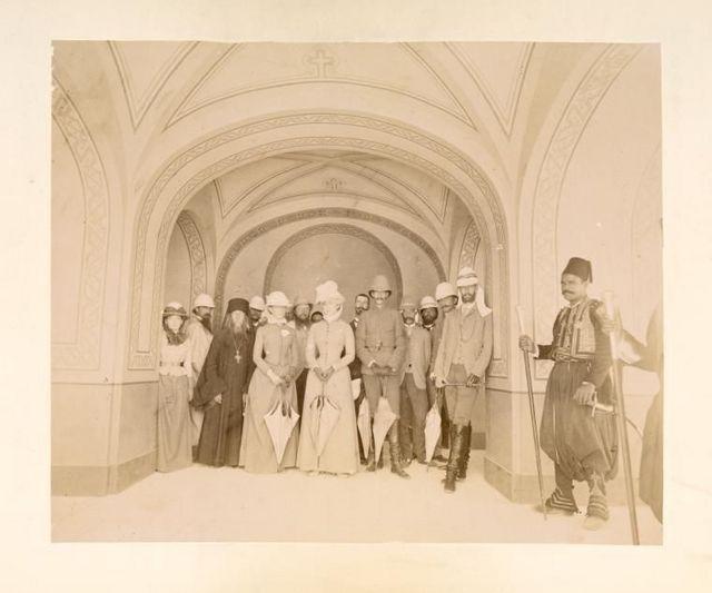Великий князь Сергий Александрович с супругой Елизаветой Федоровной на освящении русской церкви в Гефсимании. Фото иеромонаха Тимона