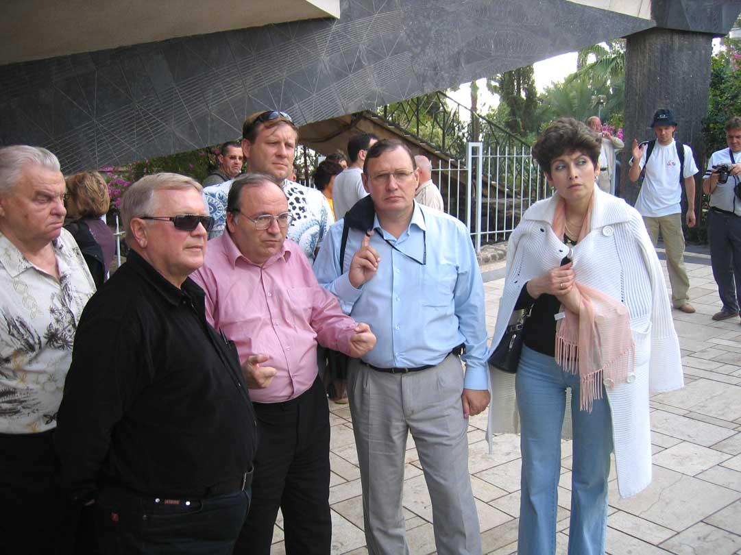 Члены Совета ИППО: О.Б.Озеров, С.В.Лукша, Н.Н.Лисовой и О.И.Фомин в Капернауме. © Иерусалимское отделение ИППО