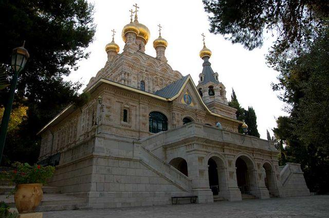 Храм св. Марии Магдалины в Гефсимании в Иерусалиме. © Иерусалимское отделение ИППО