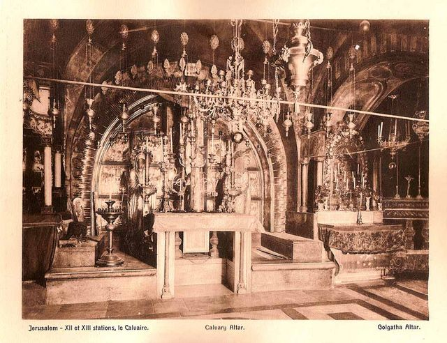 Calvary Altar. Tour Guide in Israel, Jerusalem and the Holy Land Pavel Platonov