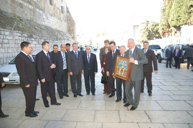 Икона Вознесения - подарок православной общине Вифлеема. © Иерусалимское отделение ИППО