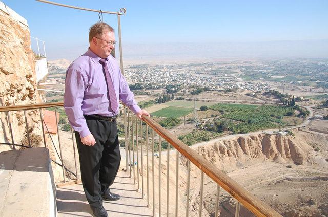 С.В.Степашин м монастыре Искушения на Сорокадневной горе. © Иерусалимское отделение ИППО