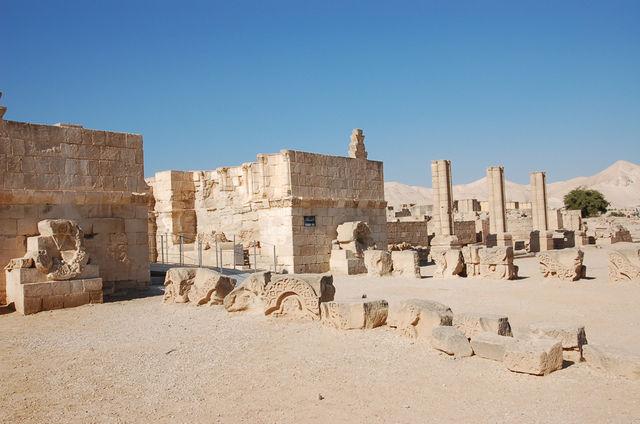 Руины дворца Хишама VII в. © Иерусалимское отделение ИППО
