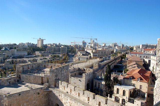 Стены западная части Старого города Иерусалима