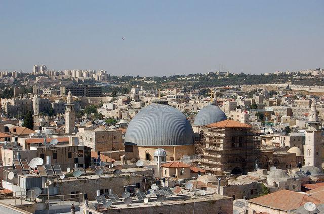 Комплекс храма Гроба Господня. © Православный паломнический центр «Россия в красках» в Иерусалиме