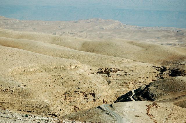 Кедронское ущелье в Иудейской пустыне. Окрестности Лавры преп. Саввы Освященного 6 января 2009 г. © Православный паломнический центр «Россия в красках» в Иерусалиме