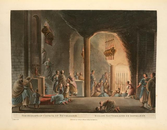 Nativity Church un Bethlehem.Luigi Mayer (1755–1803)